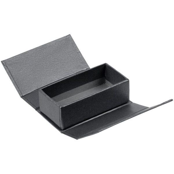 Коробочка под флешку Cocktail, темно-серебристая