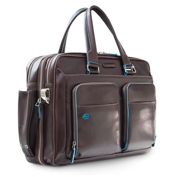 Сумка мужская для ноутбука Piquadro Blue Square, коричневая