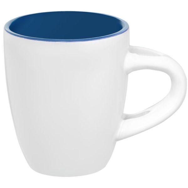 Кофейная кружка Pairy с ложкой, синяя с оранжевой