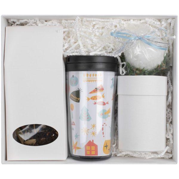 Набор Mug Snug с термокружкой и чаем, белый